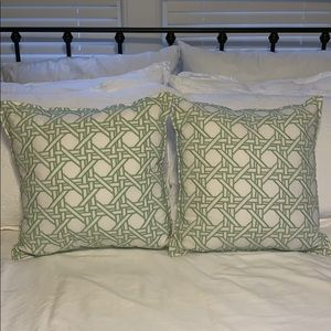 Set of 2 - Pottery Barn Pillows (Inserts Included)